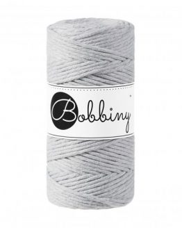 bobbiny 3 mm macrame 1-ply light grey