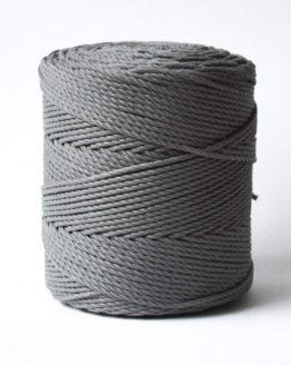 3 mm macrame touw earthstone grey katoen koord 3-ply