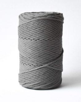3 mm macrame touw earthstone grey katoen koord 1-ply