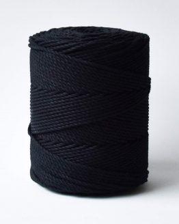 3 mm macrame touw black zwart katoen koord 3-ply