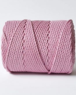 4 mm macrame touw lovely rosa katoen koord 3-ply