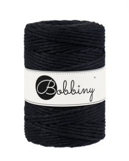 5 mm macrame koord bobbiny black