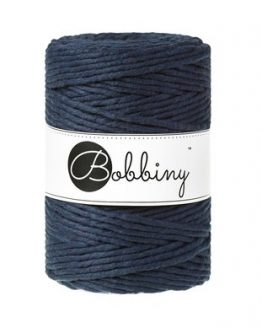 5 mm macrame koord bobbiny navy blue