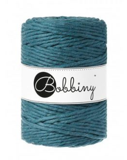 5 mm macrame koord bobbiny peackock blue