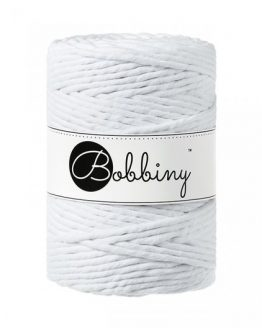 bobbiny 5 mm macrame 1-ply white
