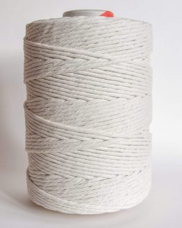5 mm single strand macrame touw, 1-ply natural