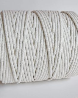 8 mm gevlochten macrame touw, braided rope natural