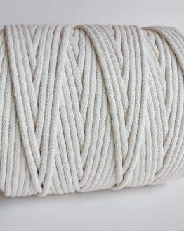 8 mm gevlochten macrame touw, braided rope natural