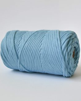 4 mm luxe macrame touw single strand powder blue