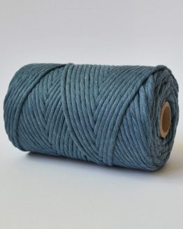 4 mm luxe macrame touw single strand denim