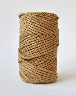 4 mm luxe macrame touw twisted mustard