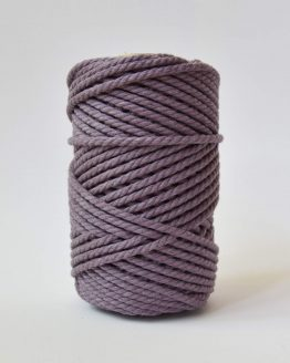 4 mm luxe macrame touw twisted highland heather lavender