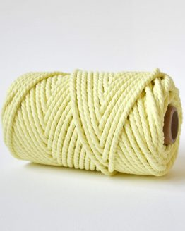 4 mm luxe macrame touw twisted lemon