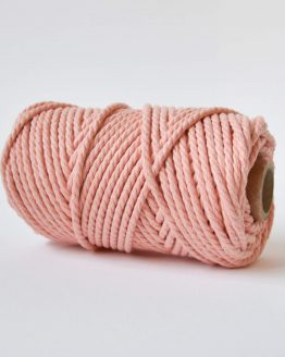 4,5 mm luxe macrame touw twisted peach