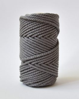 4 mm luxe macrame touw twisted taupe river silt