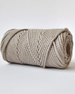 4 mm luxe macrame touw twisted linen