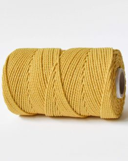 2,5 mm macrame touw koord 3-ply twisted gedraaid in aspen gold