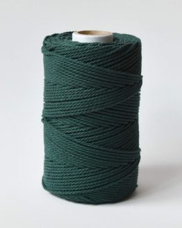 2,5 a 3 mm macrame touw forest green3-ply