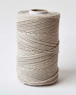3 mm macrame katoen touw 3-ply linen mist