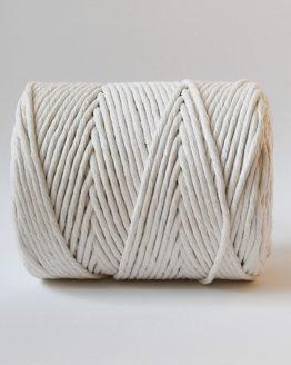 4 mm single strand macrame touw, 1-ply natural
