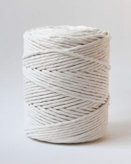 4 mm single strand macrame koord, 1-ply natural
