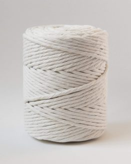 5 mm single strand macrame koord, 1-ply natural