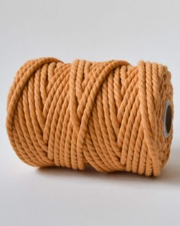 6mm macrame touw fuzzy peach twisted cc