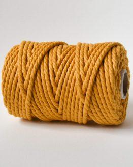 6 mm macrame touw 3-ply oekotex-100 katoen golden yeloow