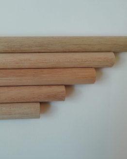 houten stok voor macrame 25 mm diverse lengtes