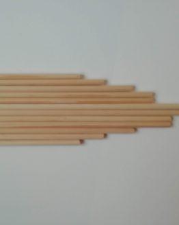 houten stok voor macrame 4 mm diverse lengtes