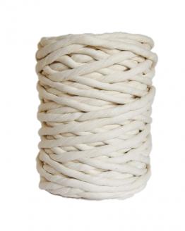 creadoodle premium 12 mm single twist string macrame touw koord rope natural