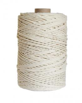 creadoodle premium 3 mm single twist string macrame touw koord rope natural
