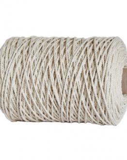 creadoodle premium 3 mm twisted macrame touw /rope natural