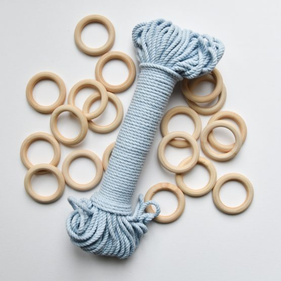 creadoodle premium collection macrame touw rope ice blue planthanger pattern