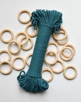 creadoodle premium collection macrame touw rope teal planthanger pattern