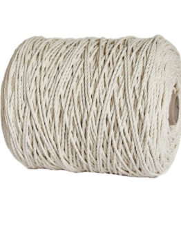 creadoodle premium 4 mm twisted macrame touw /rope natural