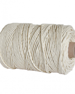 creadoodle premium 5 mm single twist string macrame touw koord rope natural