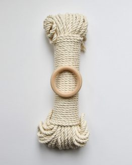 creadoodle premium collection macrame touw rope natural ecru, planthanger pattern