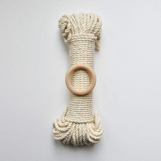 creadoodle premium collection macrame touw rope natural ecru, planthanger pattern