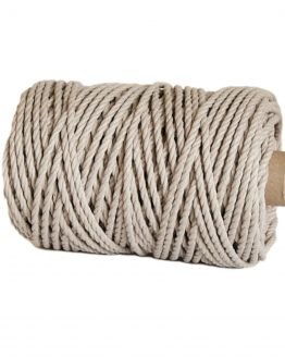 creadoodle premium collection macrame weaving 5 mm linen 3-ply twisted rope touw