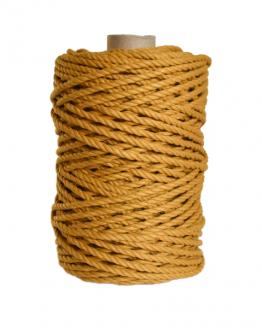 creadoodle premium collection macrame weaving 5 mustard touw rope 3-ply