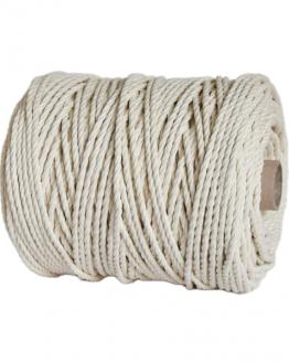 creadoodle premium 5 mm twisted macrame touw /rope natural