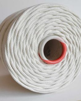 8 mm gevlochten macrame koord naturel