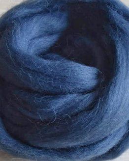 Lontwol big wool roving grey blue 542 grijs blauw creadoodle