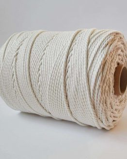 6 mm luxe macrame touw naturel twisted