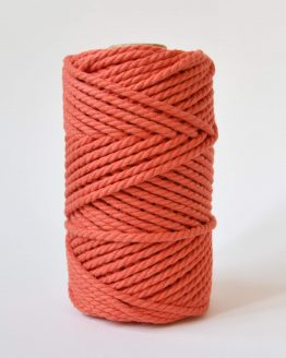 4 mm luxe macrame touw twisted coral