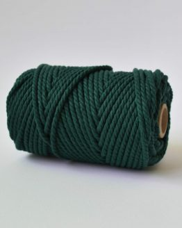 4 mm luxe macrame touw twisted forrest green