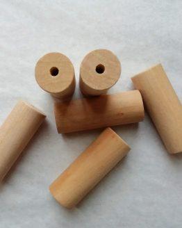 houten kralen 50 x 18 mm gat 4 mm