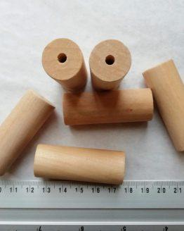 houten kralen 50 x 18 mm gat 4 mm wooden beads