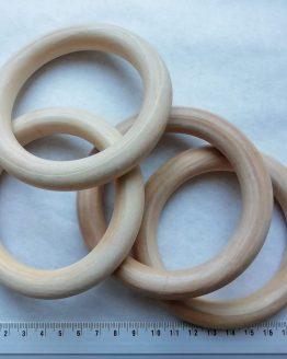 houten ring 100 mm plantenhanger teether bijtring beukenhout